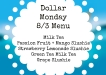 Dollar Monday 83 Menu