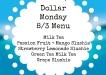 Dollar Monday 83 Menu