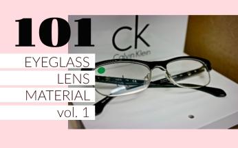 EYEGLASS LENS MATERIAL 101 cover